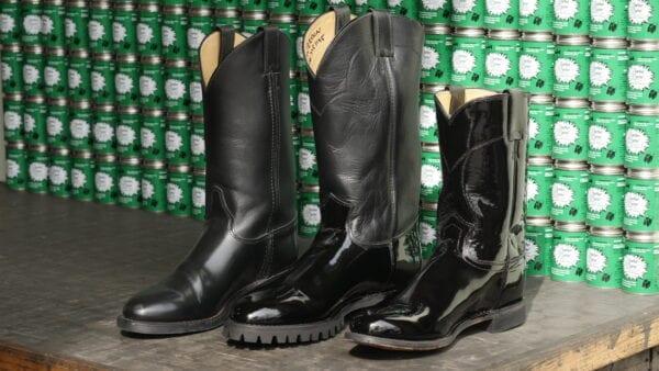 3 shiny boots
