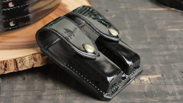 Shiny leather item
