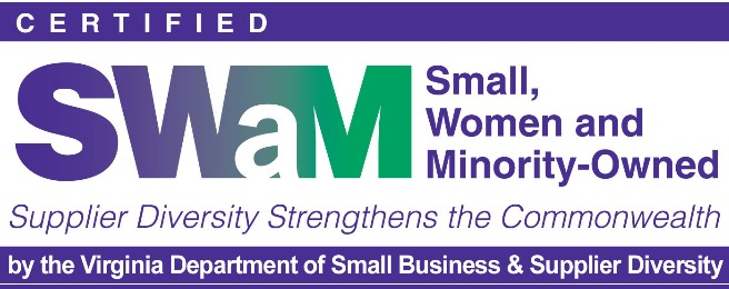 Small, woman, and minority owned business logo