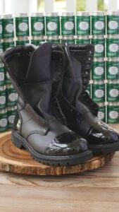 Shiny heel and toe rocky boots