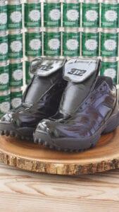 Shiny referee shoes